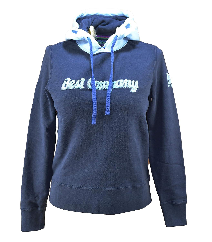 Best Company Felpa Cappuccio Donna Blu e Azzurro