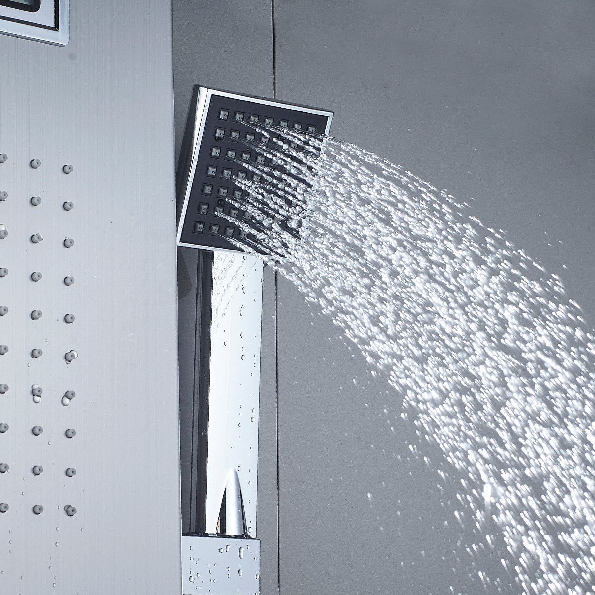 Auralum® Hochwertige Duschset Duschpaneel Inkl. Handbrause,Bad Säule  Armatur Regendusche Duscharmatur Wasserfall Duschsäule Mit Wassertemperatur  Display: ...