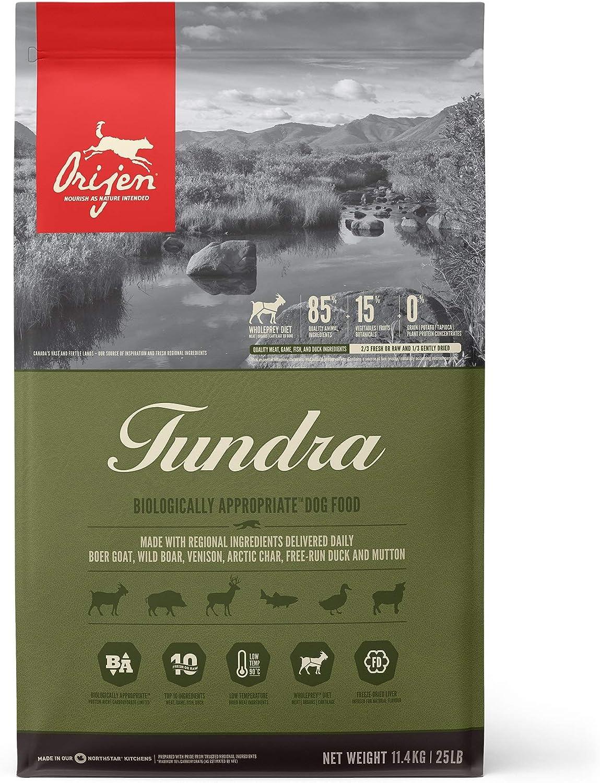 ORIJEN Tundra High-Protein, Grain-Free, Premium Quality Meat, Adult Dry Dog Food