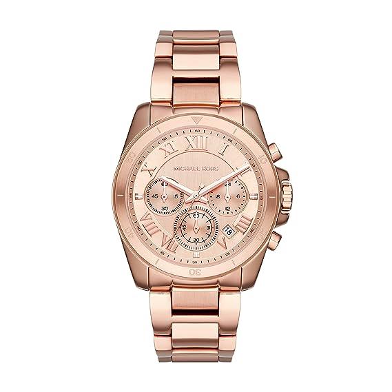 Michael Kors Reloj Mujer de Analogico con Correa en Chapado en Acero Inoxidable MK6367: Amazon.es: Relojes
