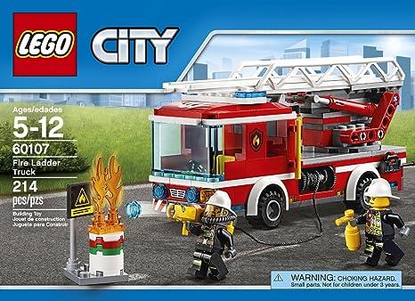 Amazoncom City Lego 214 Pcs Fire Ladder Truck Brick Box Building