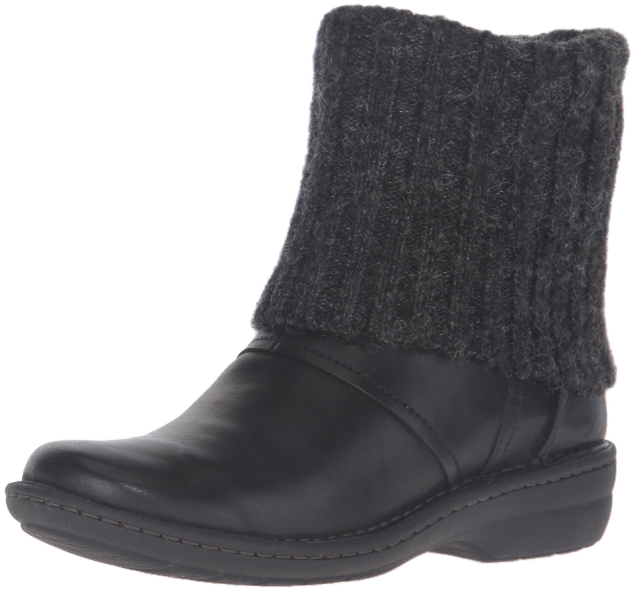 Clarks Women's Avington Style Boot, Black Leather, 6 M US by CLARKS