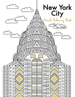 Amazon.com: New York City Coloring Book For Adults (Coloring Books ...