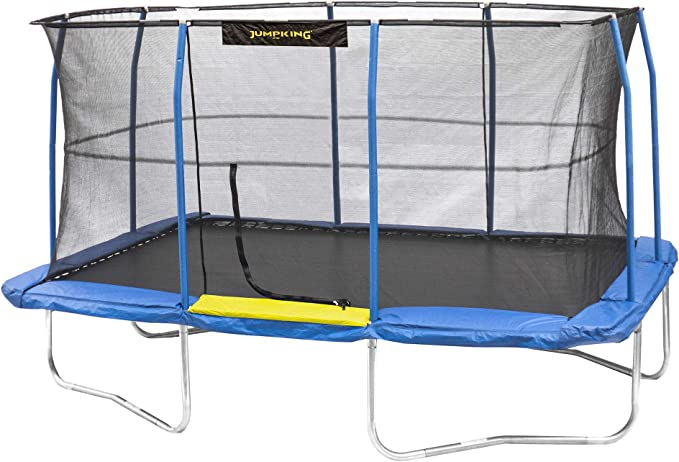 JumpKing JKRC1014C319 Rectangle Trampoline - Easy Setup