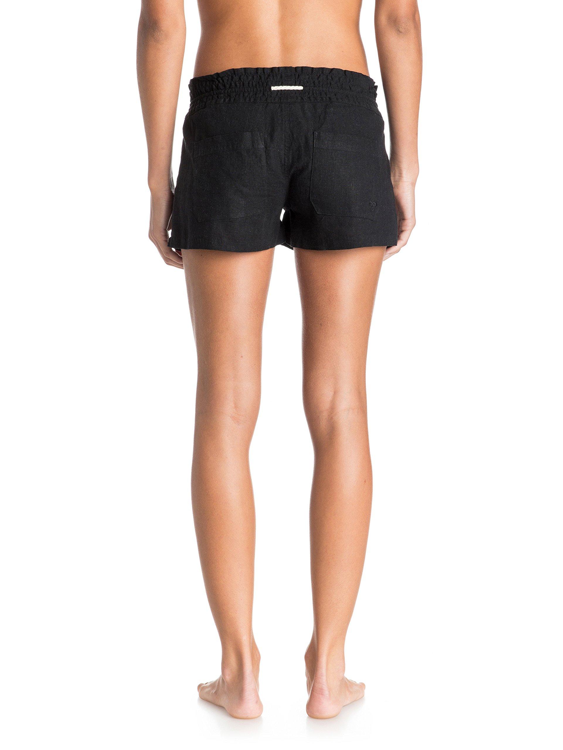 Roxy Junior's Oceanside Short Elastic Waist Non Denim Shorts, True Black, Large by Roxy (Image #2)