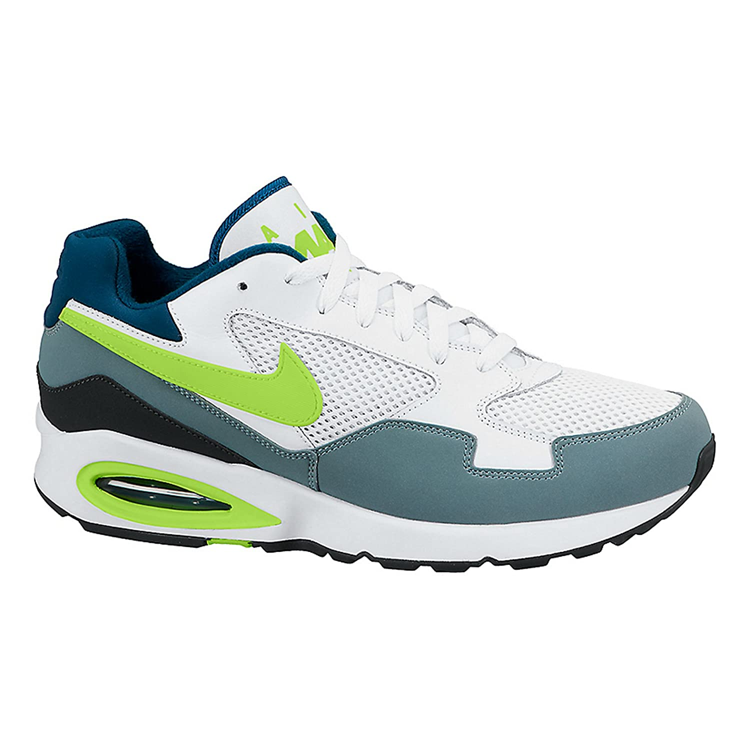 nike shoes air max white. amazon.com | nike air max st men\u0027s running shoes 652976 102 white/ grey/ volt track \u0026 field cross country nike shoes white