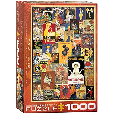 EuroGraphics Vintage Posters Jigsaw Puzzle (1000 Piece): Toys & Games [5Bkhe1802934]