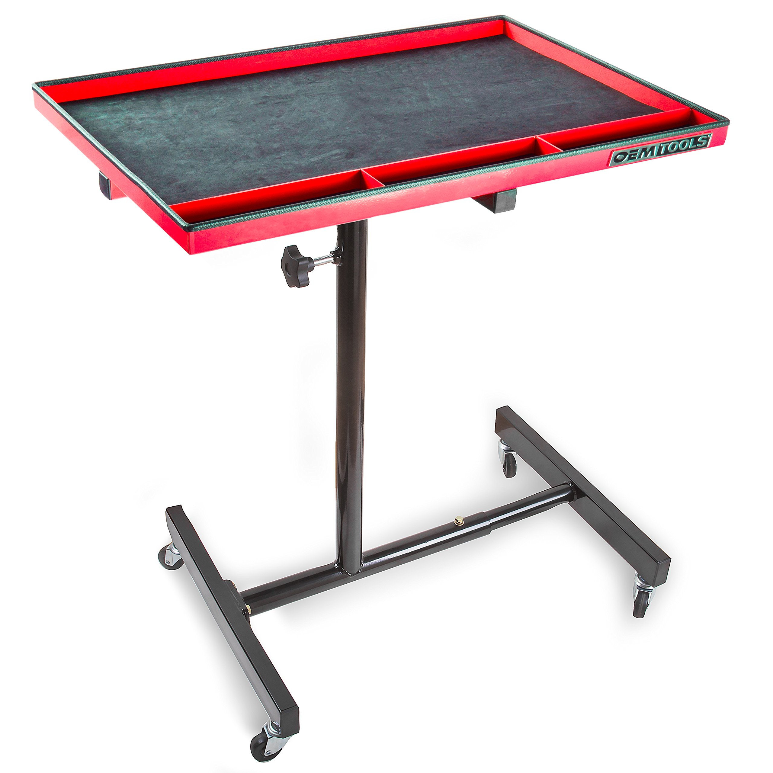 OEMTOOLS 24935 OEMTOOLS 24935 Red and Black 29'' Portable Tear Down Tray by OEMTOOLS