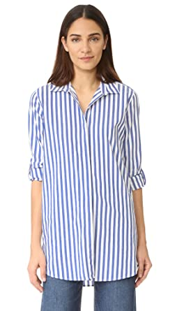 2a59f1ad77609d Amazon.com: M.i.h Jeans Women's Oversize Shirt, Blue/White Stripe ...