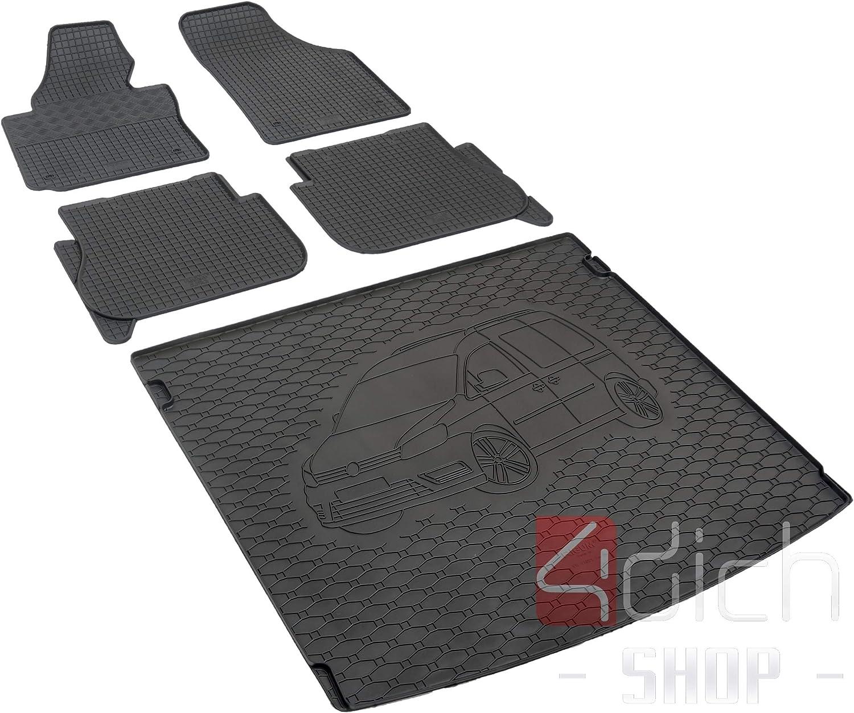 Passgenaue Kofferraumwanne Und Gummifußmatten Geeignet Für Vw Caddy 5 Sitzer Ab 2005 Autoschoner Monteur Auto