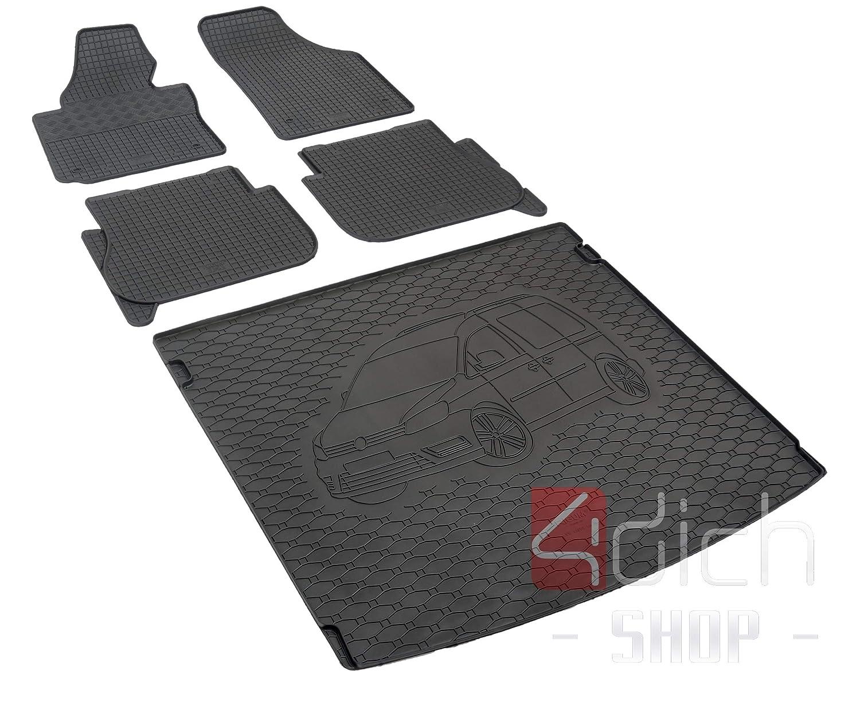 RIGUM Passgenaue Kofferraumwanne geeignet f/ür Skoda Kodiaq 5-Sitzer ab 2017 passen ideal