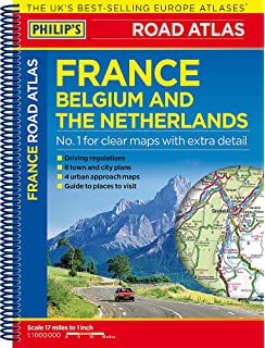 philips road atlas france belgium and the netherlands spiral a5