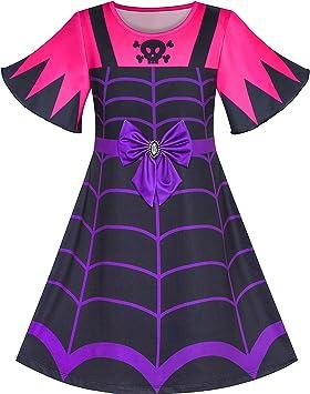 Sunny Fashion Vestido para niña 2 en 1 Vampiro Disfraz de ...