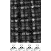 GARDINIA Veelzijdige zonwering, lichtdoorlatend, incl. 4 zuignappen, zwart, 40 x 80 cm
