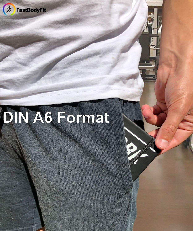 /DIN A6/con 200/P/áginas/ fastb odyfit Entrenamiento Diario para el Entrenamiento de la Fuerza/ /Fitness Diario Perfecto para Fitness el de Studio