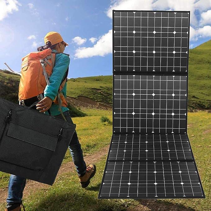 LAMP-XUE Panel Solar 400W 18V Cargador Solar portátil, Resistente al Agua y el Paquete Solar Plegable con 5V-12V Salida USB Kit Solar para el ...