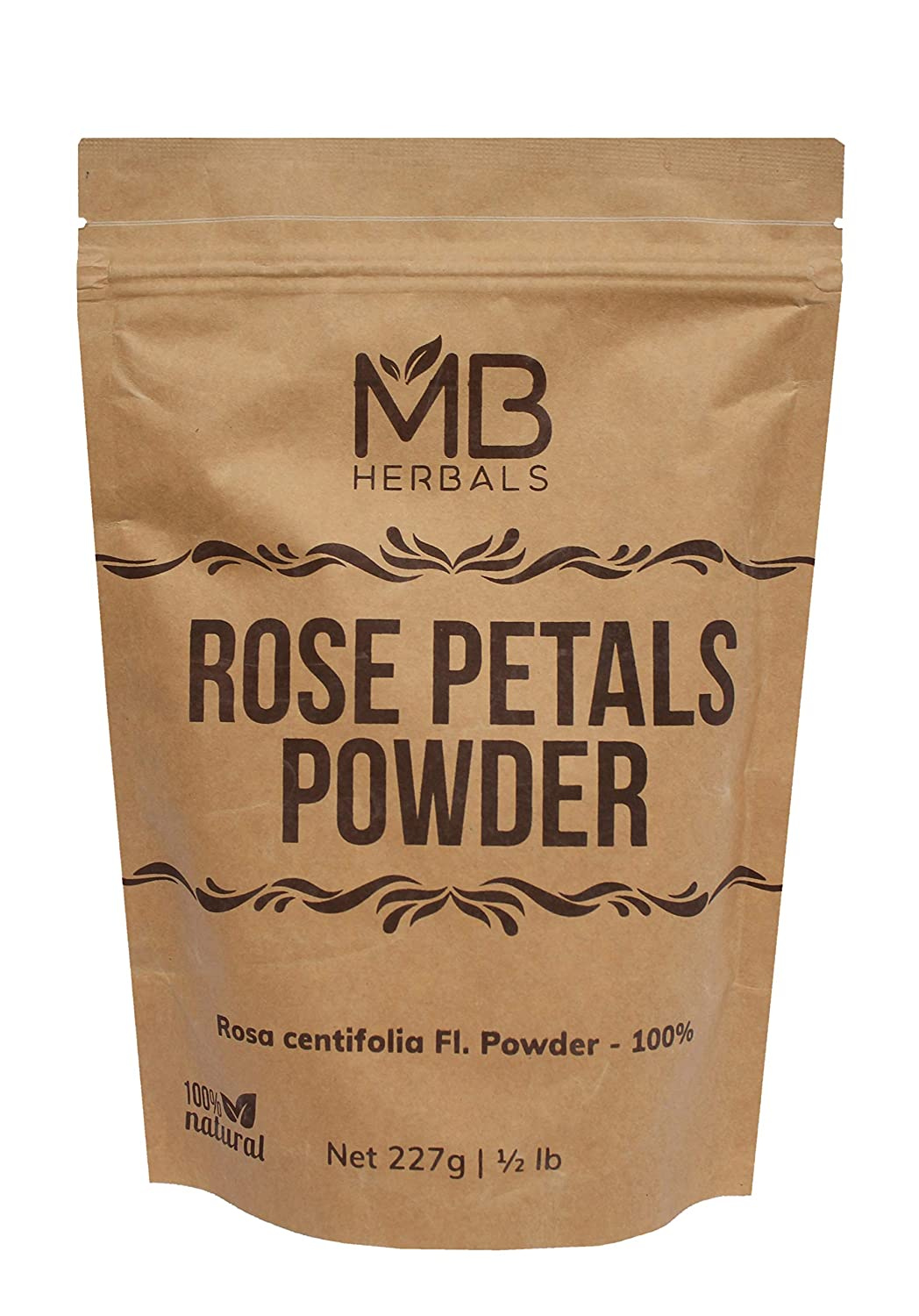 MB Herbals Rose Petals Powder 100g (3.5oz) | Rosa centifolia Natural Face Packs & Facial Mask Formulations | 100% Pure | Chemical-Free | Preservative-Free | No Artificial Color
