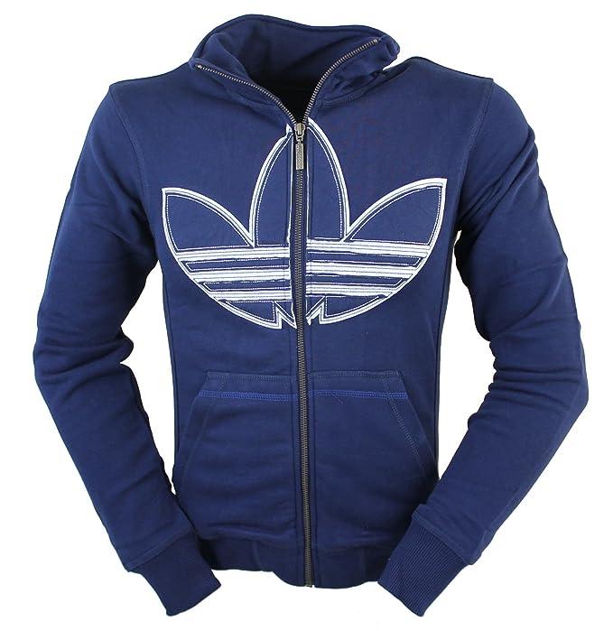 adidas Originals - Sudadera con capucha - para hombre azul añil X-Small: Amazon.es: Ropa y accesorios