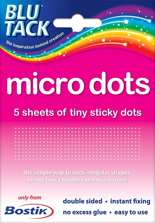 2 Packs of Bostik Blu Tack Micro Tiny Sticki Sticky Glue Adhesive Dots 805972