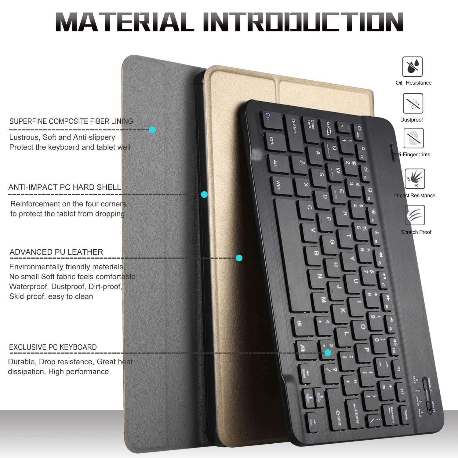 Amazon.com: IVSO Acer Chromebook Tab 10 Tablet Case with Keyboard - Ultra Lightweight Portfolio Detachable Wireless Keyboard Front Prop Stand Case/Cover for ...