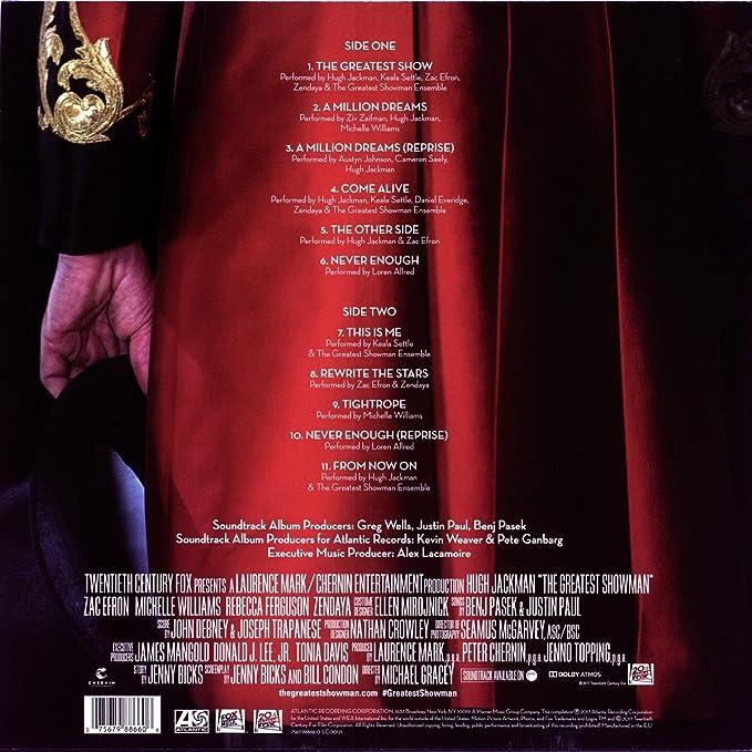 The Greatest Showman Original Motion Picture Soundtrack VINYL Amazoncouk Music