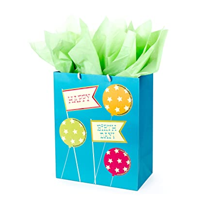 Amazon Hallmark Birthday Large Gift Bag With Tissue Paper
