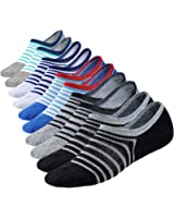 M&Z Mens No Show Low Cut Ultimate Casual Cotton Anti-Slip Socks 5/6Pack