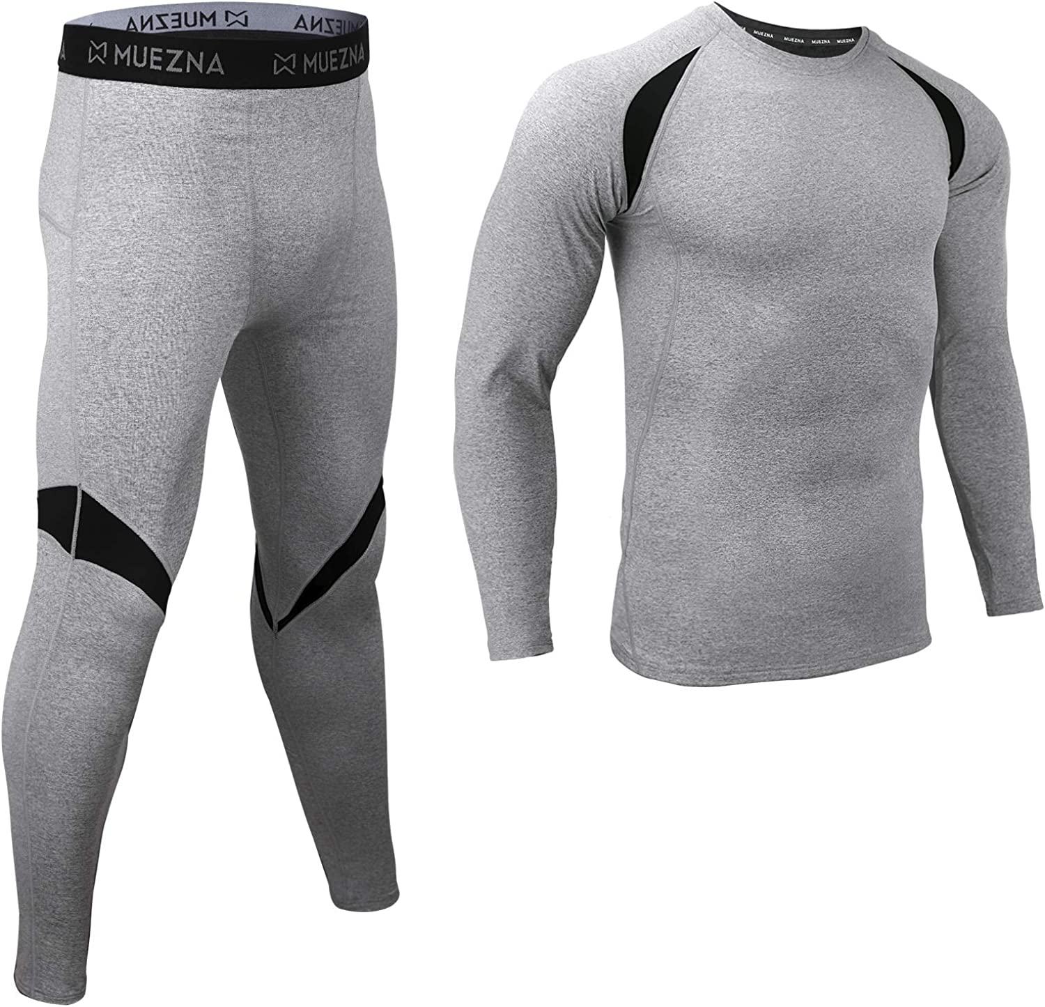 Men's Thermal Top and Bottom Set Underwear Long Johns Base Layer with Soft Fleece Lined at  Men's Clothing store