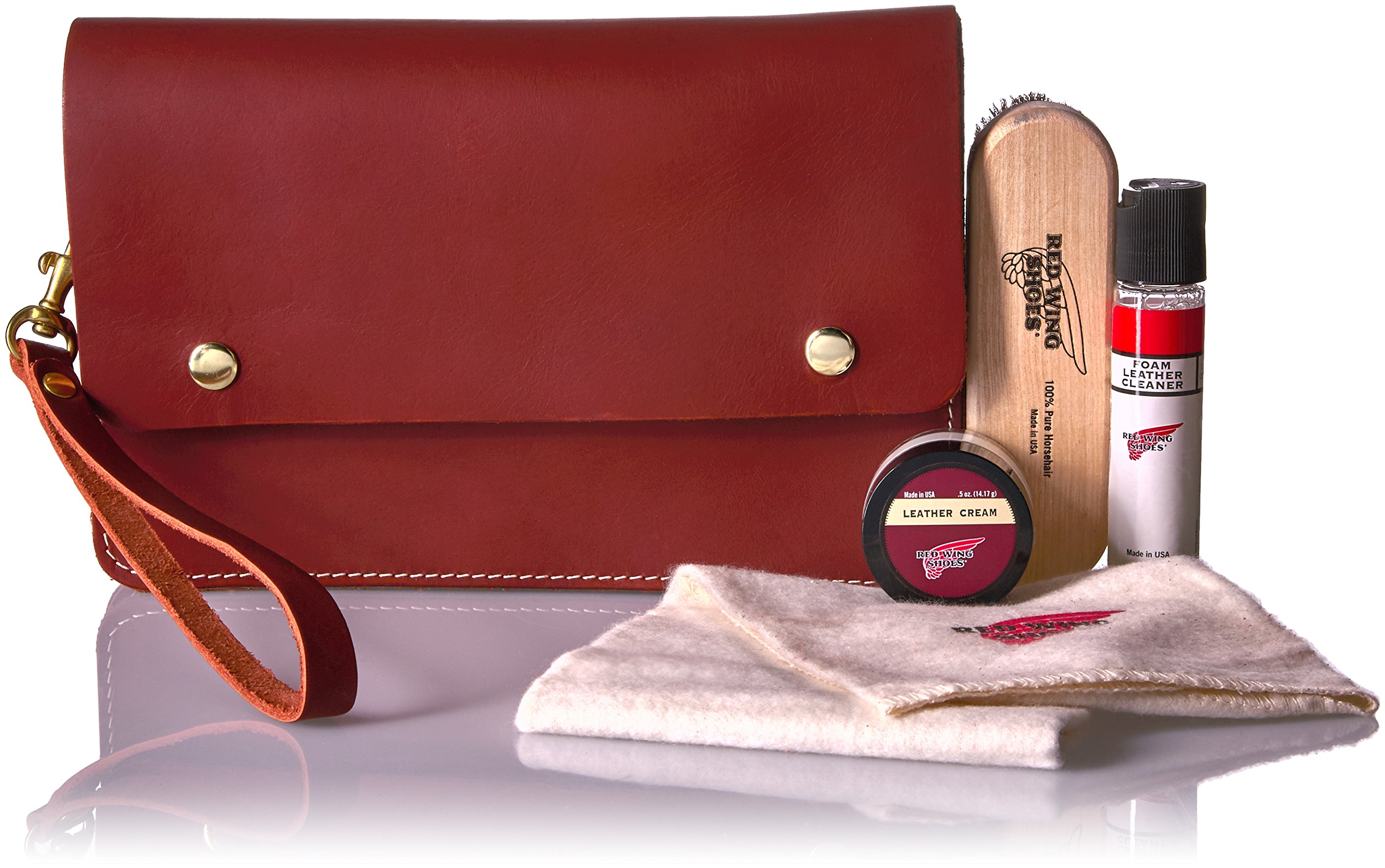 Red Wing Heritage  LEATHER TRAVEL CARE KIT Shoe Accessory, brown, 8 D US by Red Wing
