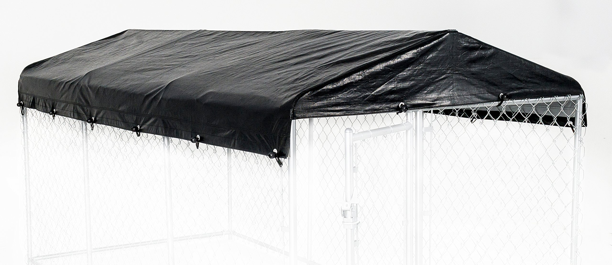 Weatherguard Dog Kennel Cover Large All Season Dog Run Cover & Roof - Perfect Fit for Lucky Dog 5ft. X 15ft. Outdoor Cages and Pens (5ft. X 15ft)