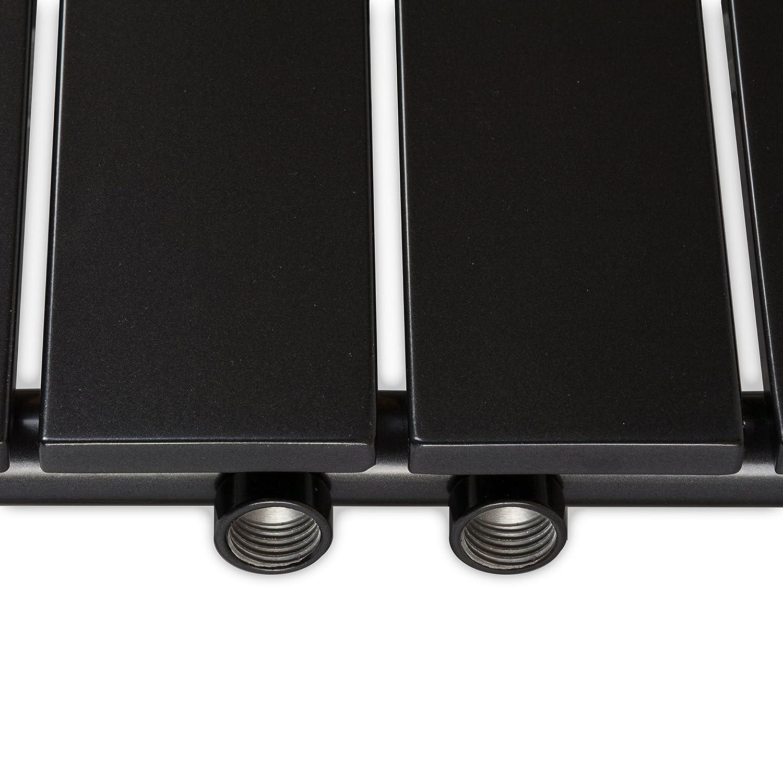 Design Paneelheizk/örper Heizk/örper Badheizk/örper mit Mittelanschluss und 2 Handtuchstangen Edelstahl alle Gr/ö/ßen 1500 x 450, Wei/ß 686 Watt nach EN442