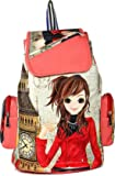 FighterBulls Girls Fancy Stylish College / Casual Handbag Backpack, Bag (Pink)