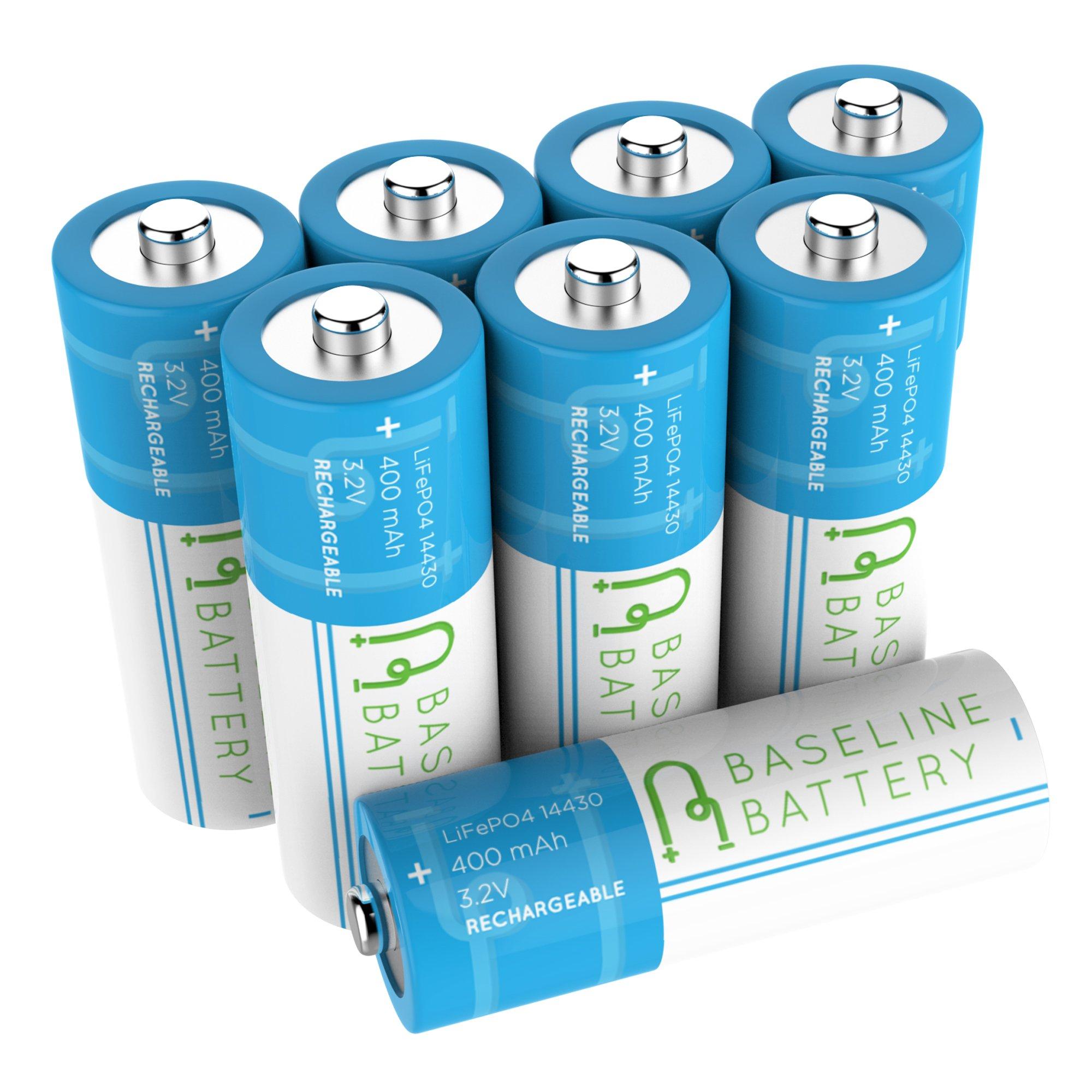 8 IFR 14430 3.2v LiFePO4 Lithium Phosphate Rechargeable Batteries 400 mAh Solar Garden Light Baseline Battery