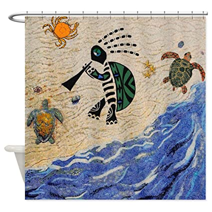 Amazon CafePress Kokopelli Turtle Shower Curtain Decorative