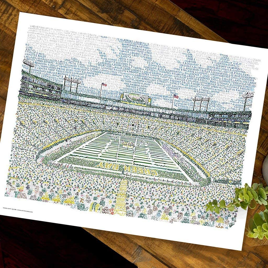 Lambeau Field Word Art