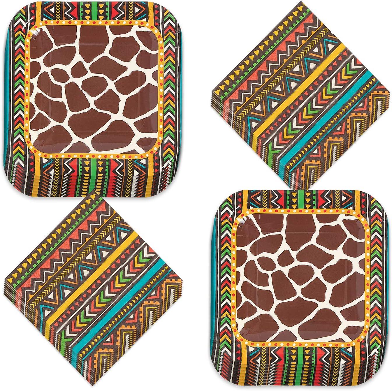 20 X Safari Jungle Giraffe Tiger Elephant Zebra 3 PLY Paper SERVIETTES NAPKINS 13 X 13