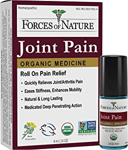 Forces of Nature -Natural, Organic Joint Pain Relief (4ml) Non GMO, No Harmful Chemicals -Alleviate Stiffness, Inflammation from Arthritis, Rheumatoid and Osteoarthritis, Increase Circulation