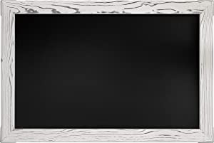 "Loddie Doddie Magnetic Chalkboard - 20"" x 30"" Chalkboard for Wall Decor - Easy-to-Erase Large Chalkboard with White Rustic Frame for Kitchen - Big Framed Magnet Blackboard - Hanging Black Chalkboards…"