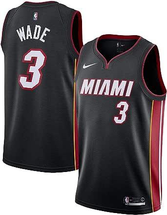 NIKE MIA M Nk Swgmn JSY Road - Camiseta 2ª Equipación Miami Heat 17-18 de Baloncesto Hombre: Amazon.es: Ropa y accesorios