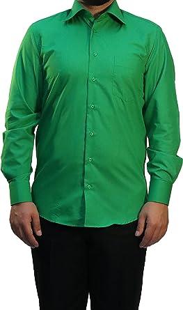 Muga combinado Puños Camisa de hombre, verde oscuro, tallas S ...