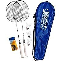 Best Sporting 200 XT badmintonset, 2 badmintonrackets 3 ballen inclusief draagtas