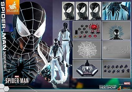 Amazon Com Hot Toys Spider Man Negative Suit Exclusive Sixth Scale Figure Vgm36 Toys Games