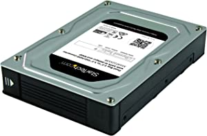 StarTech.com Dual-Bay 2.5in to 3.5in SATA Hard Drive Adapter Enclosure with RAID - Supports SATA III & RAID 0, 1, Spanning, JBOD Aluminum (35SAT225S3R)