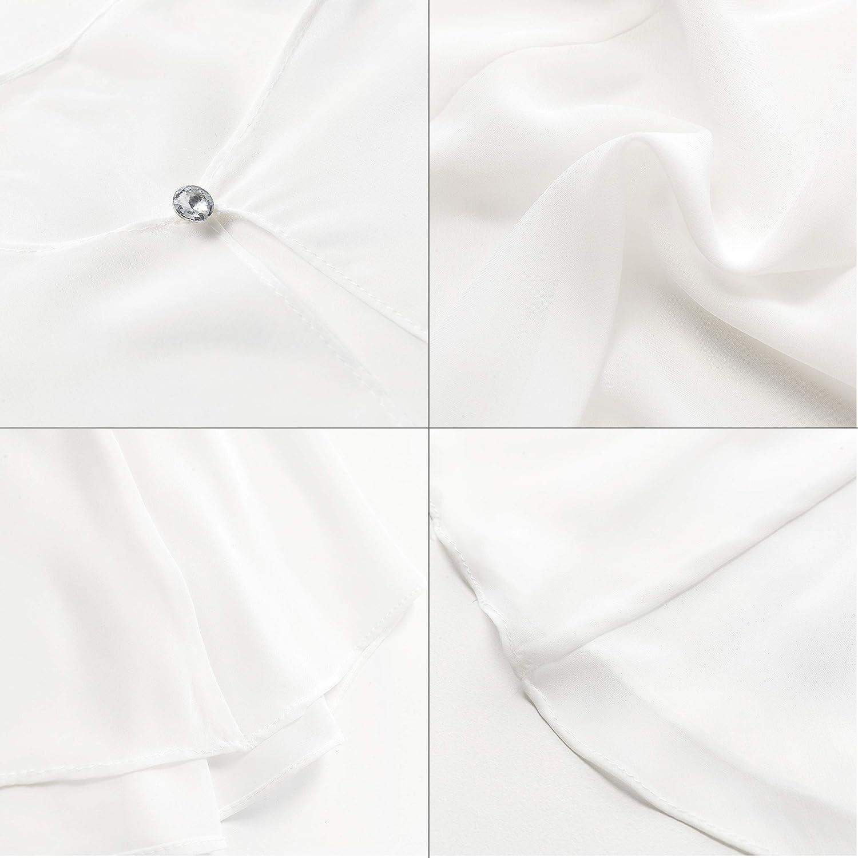 Coucoland Damen Chiffon Stolen f/ür Abendkleider Hochzeit Braut Stola Elegant Open Front Cardigan Chiffon Cape Schulter Bedeckung Umschlagt/ücher