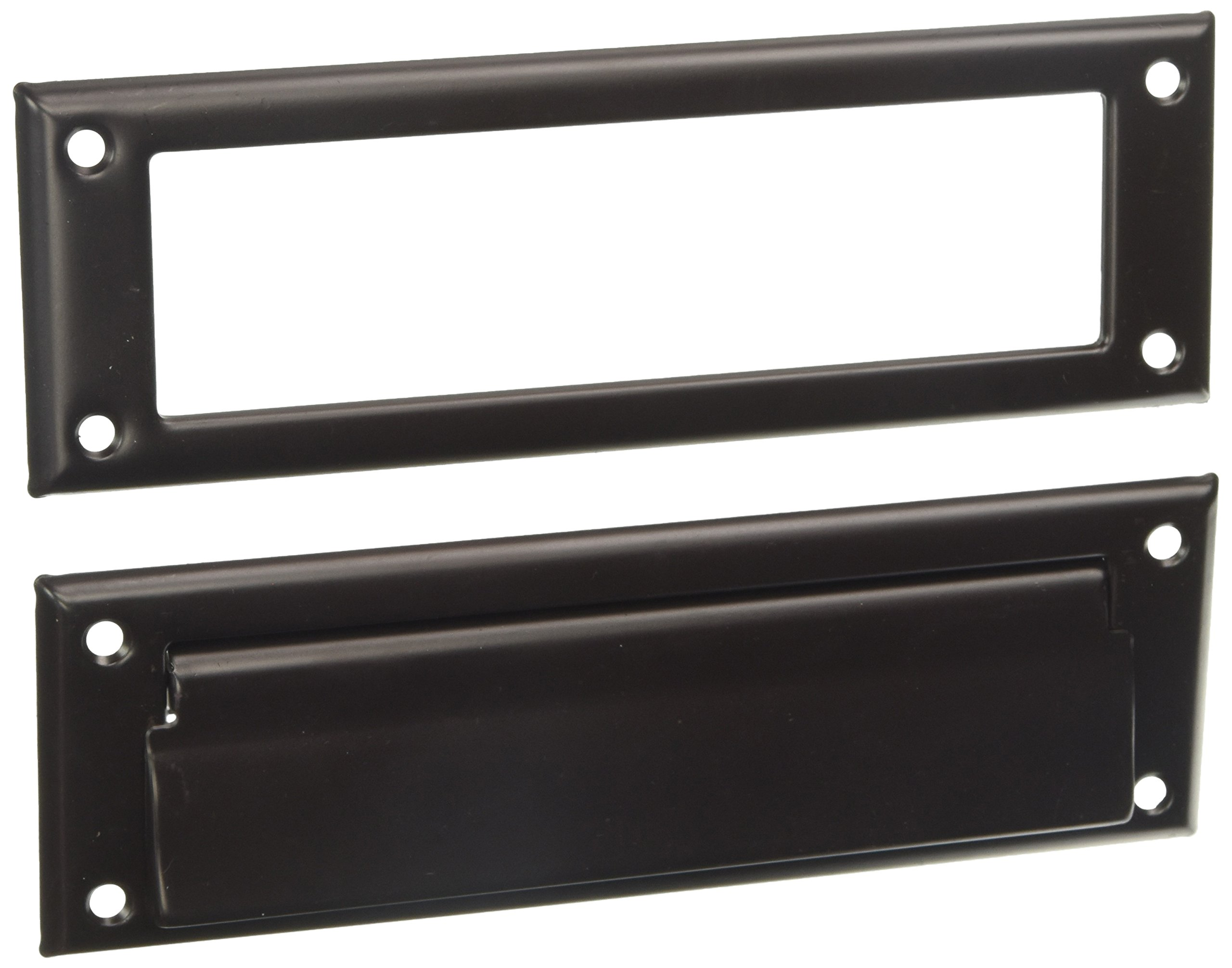 Deltana MS626U10B 8 7/8-Inch Mail Slot with Solid Brass Interior Frame