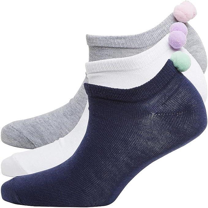 Amazon.es: Borla de señoras Calcetines X 3 pares color mezclado tenis Golf deportes calcetines no show calcetines deportivos