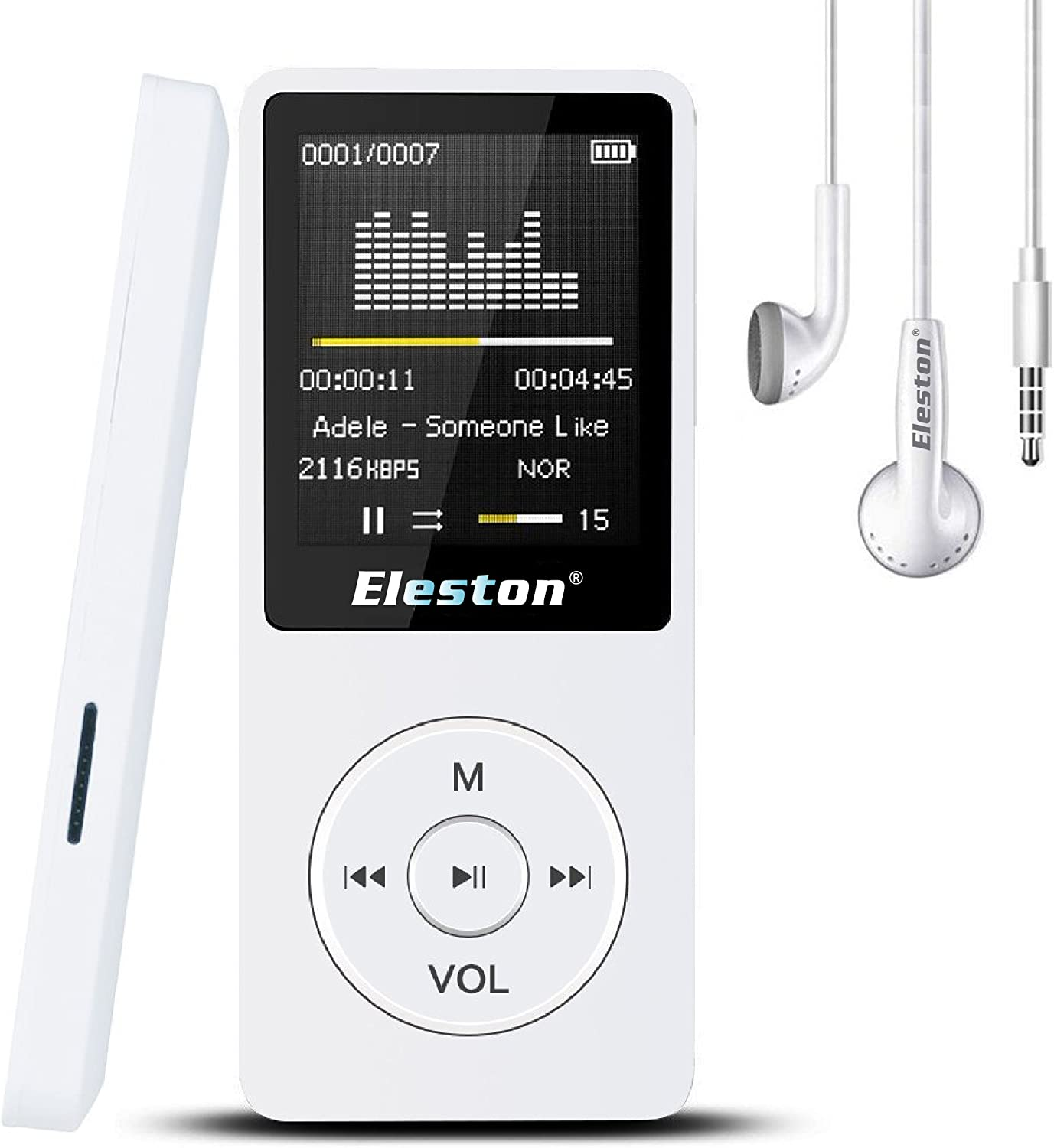 MP3 Player 32GB MP3 Player with Bluetooth circular,Black Voice ...