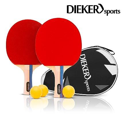 Superb Premium Tischtennisschlaeger Set Von Dieker Sports Erstklassigem Spielgrip 2 Tischtennisschlager 3X3 Stern Hochwertige Balle Allround Download Free Architecture Designs Grimeyleaguecom