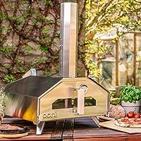 Pro Uuni Pizzaofen XXL silber Oven ✔ eckig ✔ Grillen mit Holzkohle Pellets