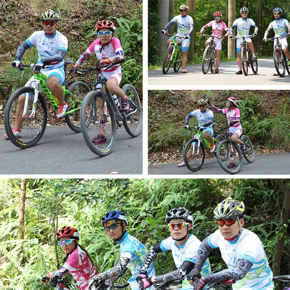 Protection de la Peau pour Hommes Femmes pour Le Cyclisme Tennis Alimagic Manche pour Bras de Sport UV Protection Bras Manches Jungle S Golf